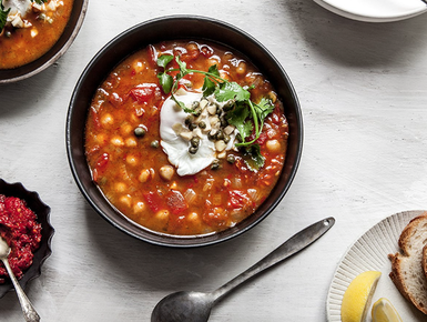 Tunisian chickpea soup