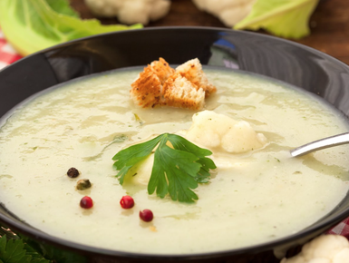 Cauliflower and coconut soup