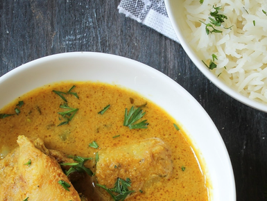 Sri Lankan chicken curry with coconut and turmeric