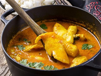 Curried fish stew